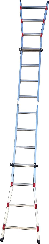 Sicos 146407 Escalera multiposiciones (aluminio, 4x4): Amazon.es: Bricolaje y herramientas