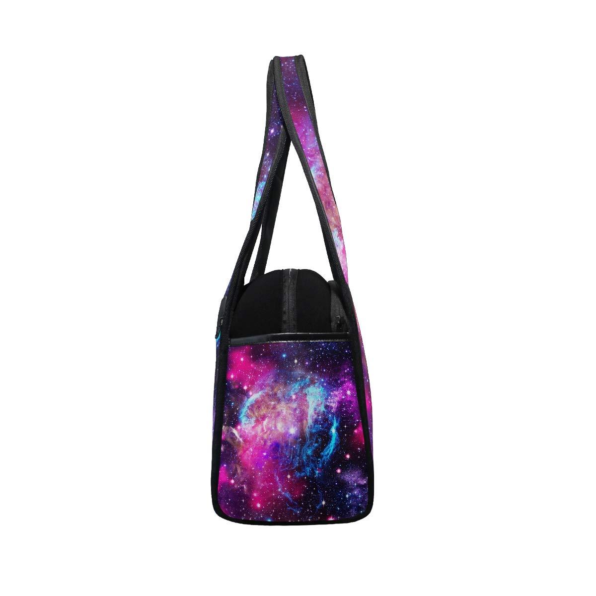 Unisex Travel Duffels Gym Bag Nebula Galaxy Universe Star Canvas Weekender Bag Shoulder Bag Totes bags