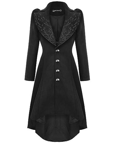 Oscuro en Love para mujer gótico abrigo chaqueta color negro Vintage Steampunk Victorian