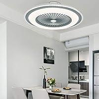 Berkalash – Ventilador de techo con iluminación, 23 pulgadas LED Ventilador de…
