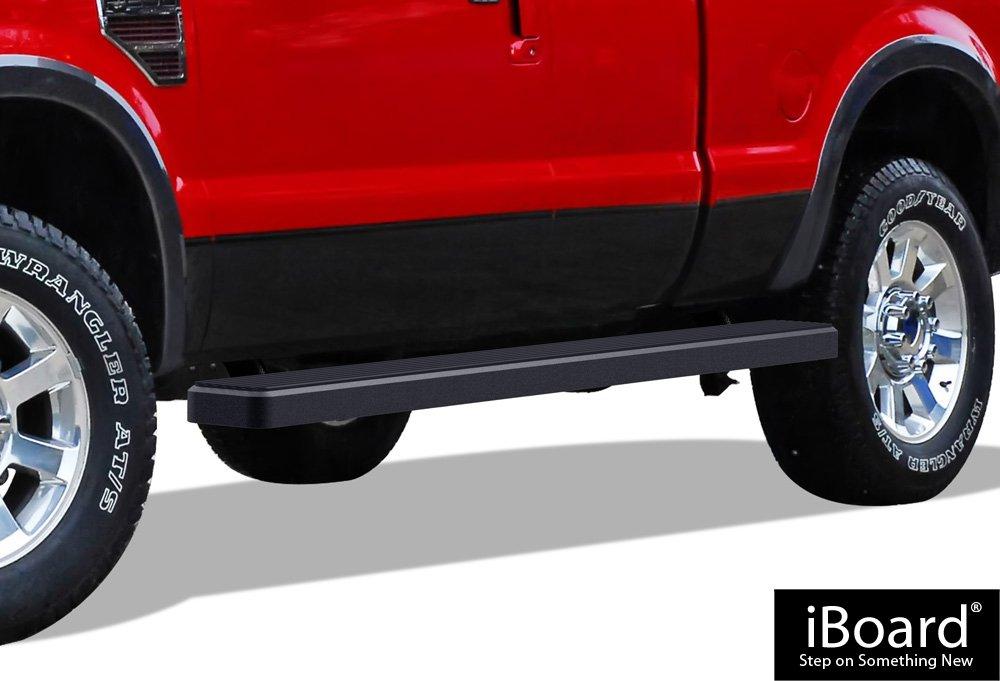 Rueda Que Rueda (W2 W) iBoard (5 pulgadas WTW) estribos | recubierto de polvo negro nerf bares | lado pasos | paso rieles para 1999 - 2016 Ford F250/F350 ...