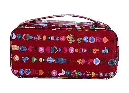 Fortunings JDS® Accesorios de viaje impermeable almacenamiento bolsa de ropa interior de vino bolsa roja