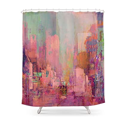 Society6 Pink City Shower Curtain 71quot
