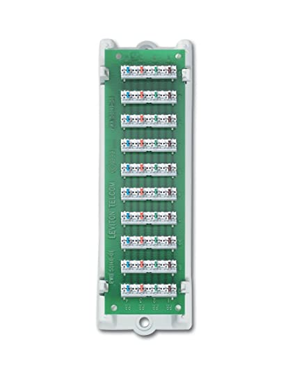 amazon com: leviton 47689-b 1x9 bridged telephone module with bracket: home  improvement