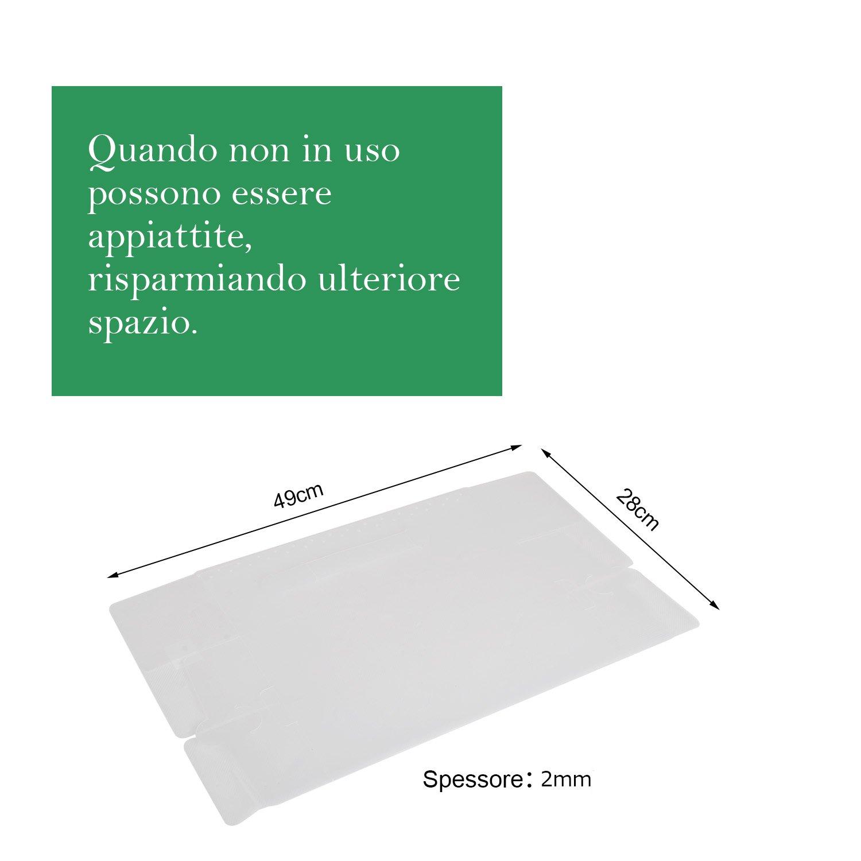 Transparente UUHOME 24 x Cajas de Zapatos Plegables de Pl/ástico Uuhome 30 x 18 x 10cm