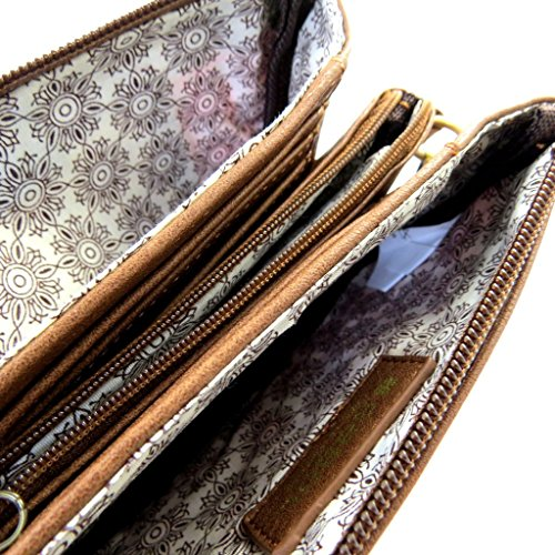 Bolsa de diseñador 'Gabol'de color marrón rojizo (3 compartimentos).
