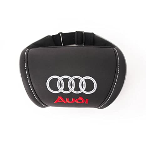 Amazoncom Audi Accessories Black Car Neck Support Pillow Headrest - Audi emblem