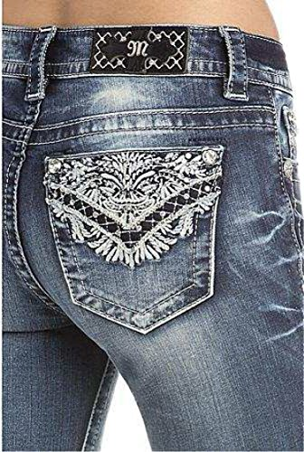 Miss Me Women's Intricate Embroidered Boot Cut Jeans Indigo 26 by Miss Me (Image #2)