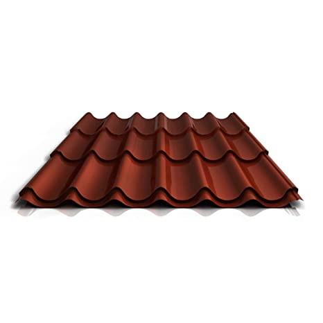 Material Stahl Farbe Rotbraun Beschichtung 25 /µm Trapezblech Profilblech Profil PS35//1035TRA Dachblech St/ärke 0,50 mm