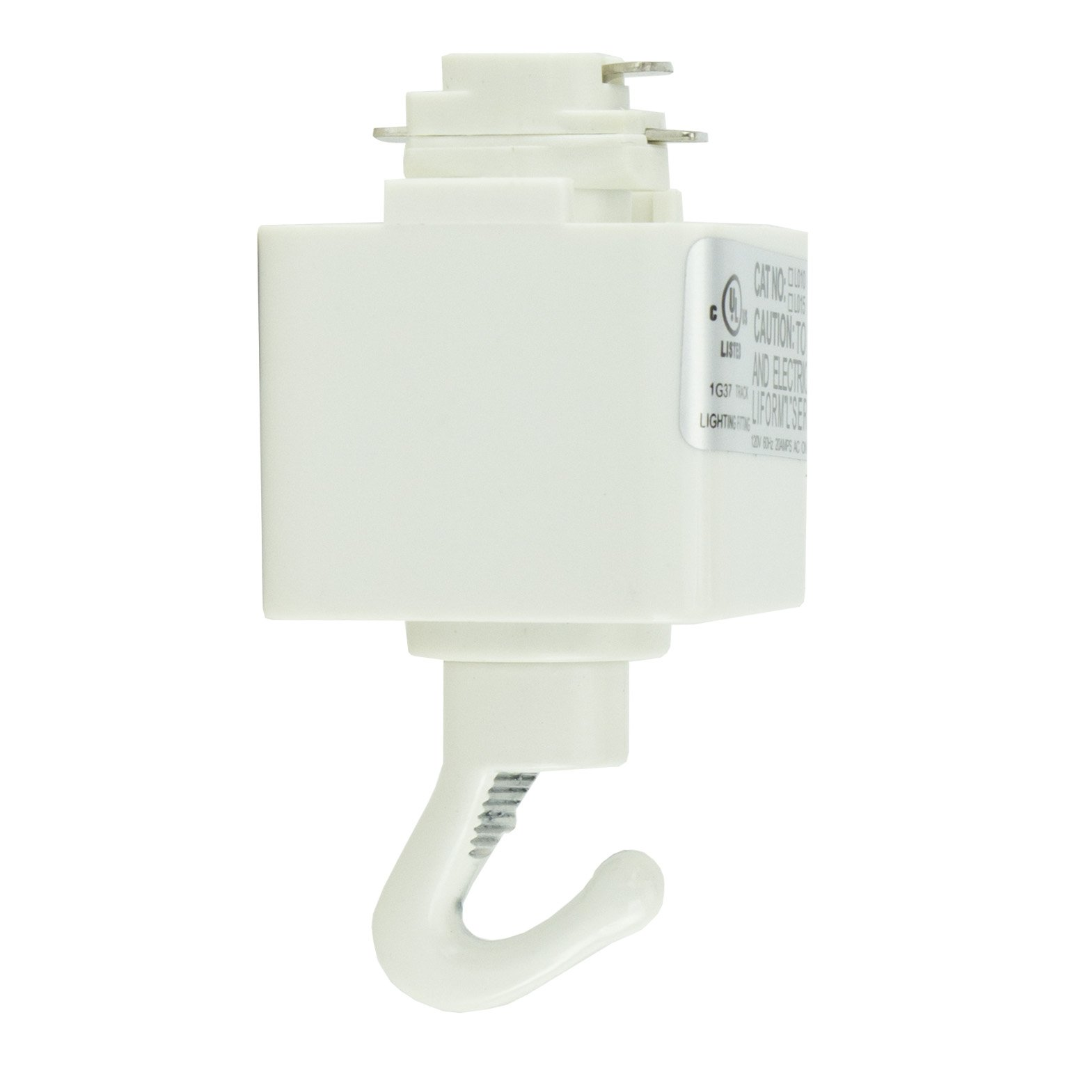 Direct-Lighting H System Track Adapter with Hook H870-WH (White)