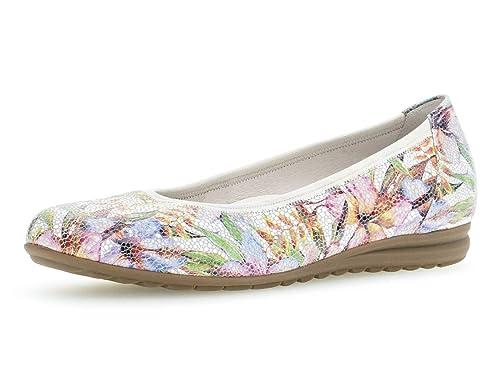 c177583cfd Gabor 22.620 Women,Classic Ballerinas,Flats,Summer Shoe,Classically  Elegant,Weiss