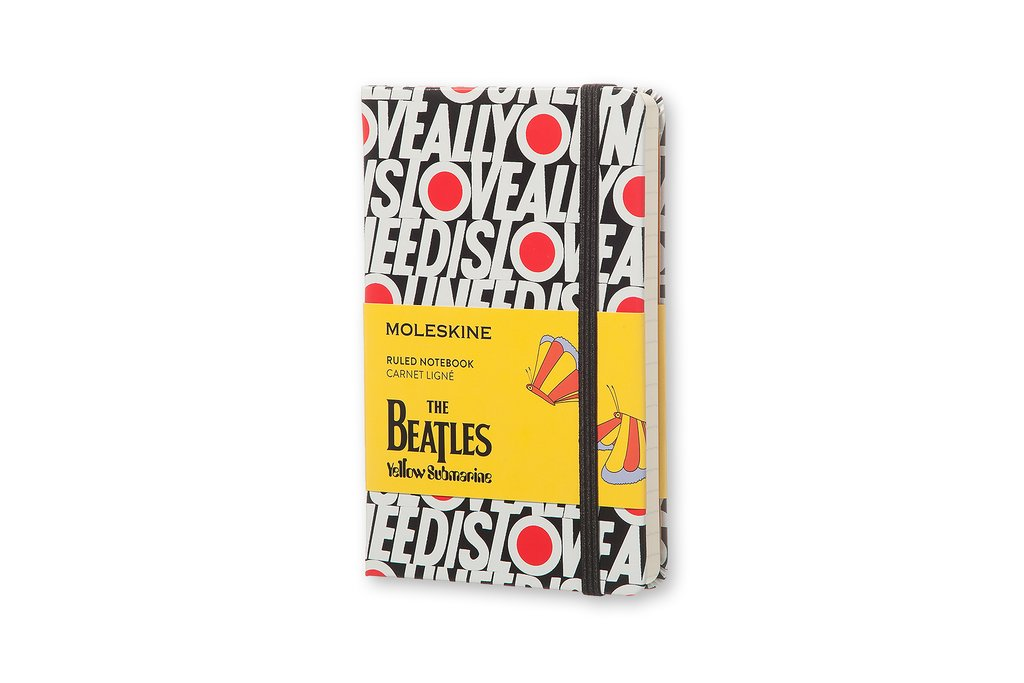 Moleskine The Beatles Limited Edition Notebook Pocket Ruled.