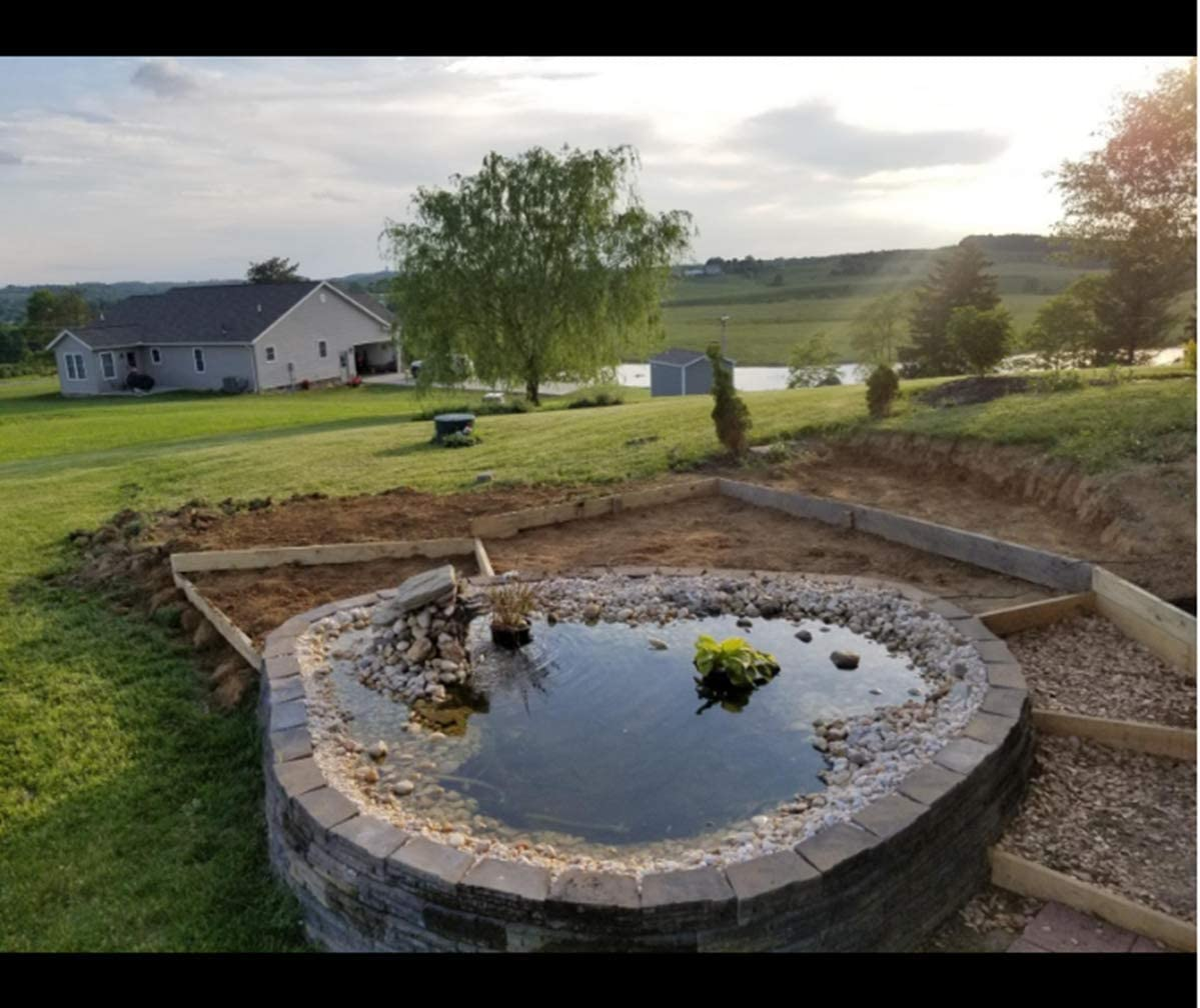 Fish Ponds 40 Mil Pond Liner uyoyous 40 Mil HDPE Rubber Pond Liner,13ft x 16.4 ft Pond Skins Liner Black Pond Liner for Small Ponds Streams Fountains,Water Garden,Koi Ponds