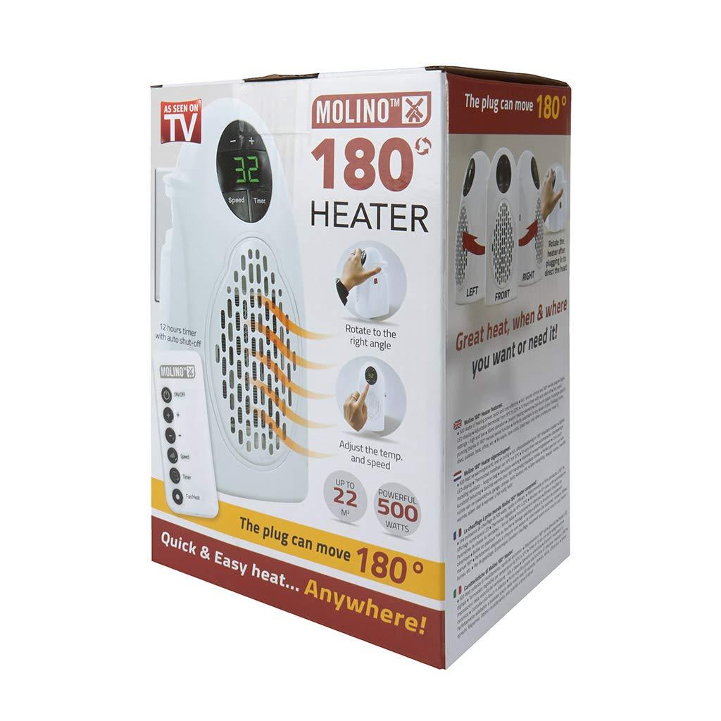 Molino Heater Estufa Eléctrica Compacta de bajo consumo mando incluida visto en TV: Amazon.es: Hogar