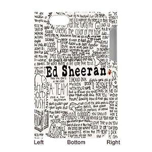 Art Handwritten lyrics Ed Sheeran Custom Luminous Case Cover for IPhone 4/4s 3D by runtopwell