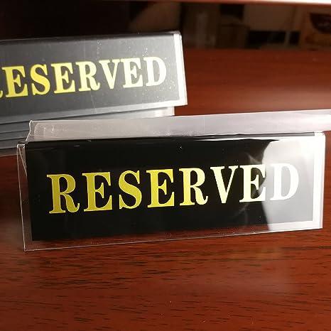 earlywish acrílico reservado mesa asiento restaurante cartel ...