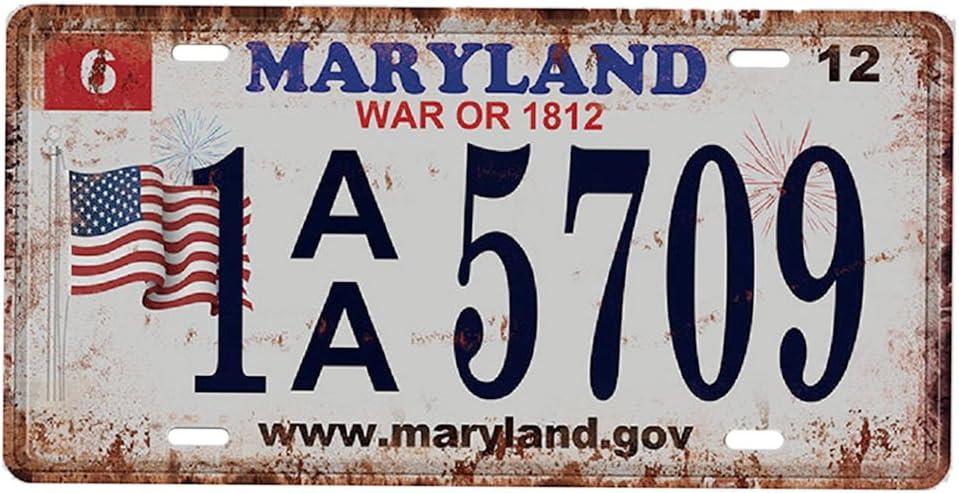 Alabama 2 USA Kennzeichen Metall Blechschilder Schild Plakette f/ür Cafe Bar T/ür