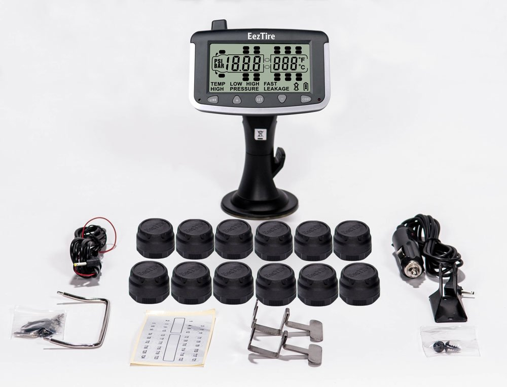 EEZTire Tire Pressure Monitoring System - 12 Sensors (TPMS)
