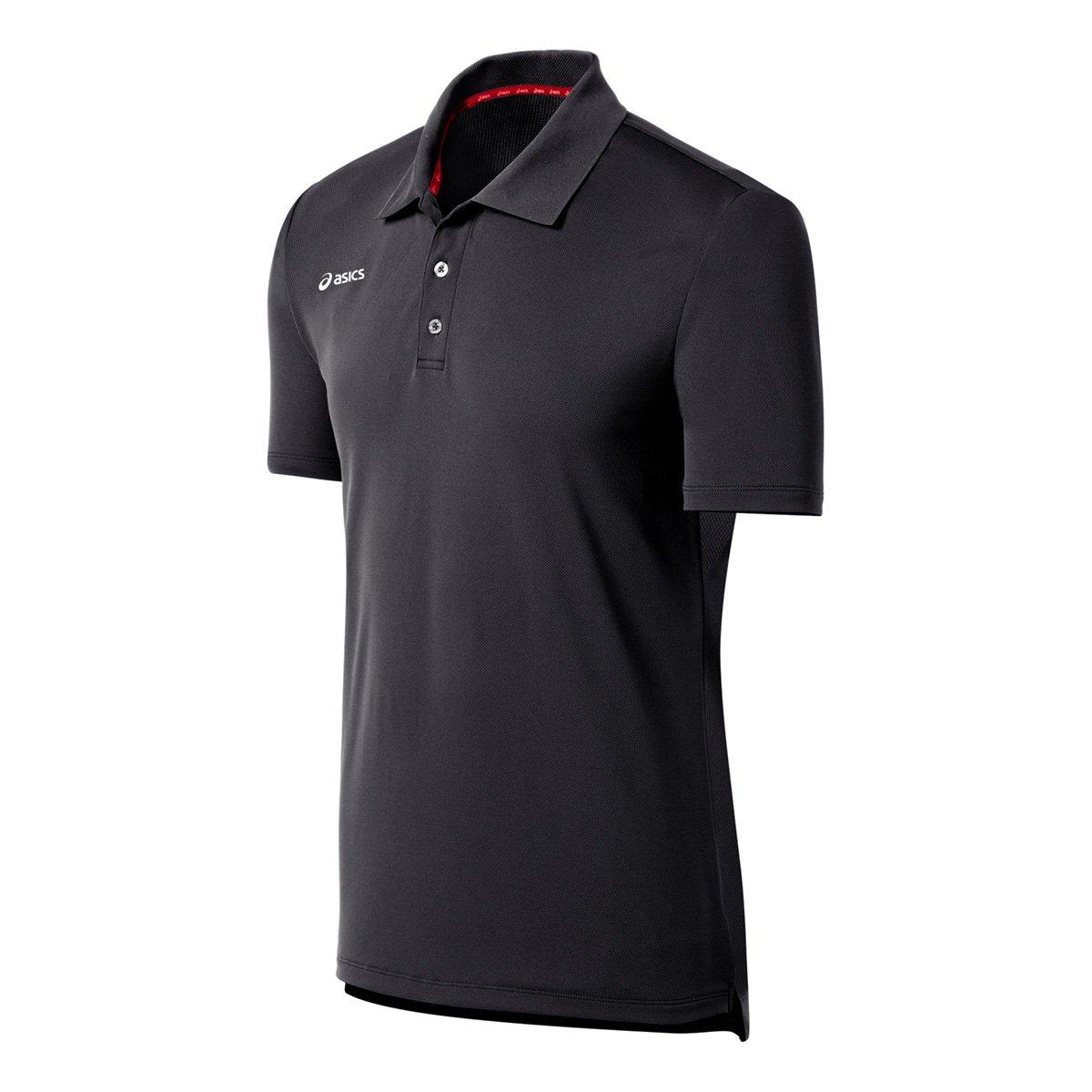 ASICS Men's Team Performance Polo Shirt, Steel Grey, Medium