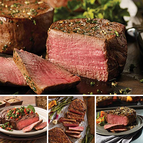 Omaha Steaks Best Seller Combo (8-Piece with Filet Mignons, Boneless New York Strips, Ribeyes, and Top Sirloins)