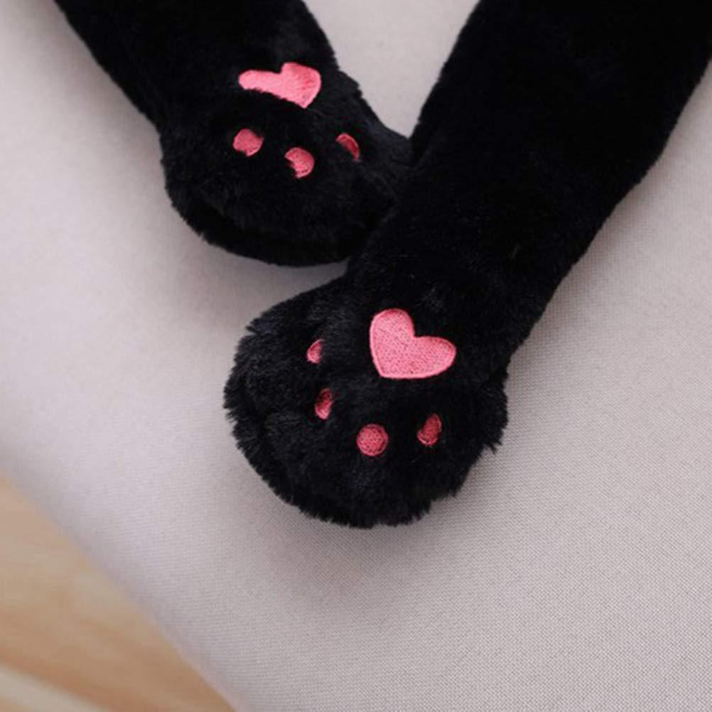 Amosfun Cappello Panda Che Muove Le Orecchie Costume Copricapo Peluche Animale Berretto per Donna Bamibini