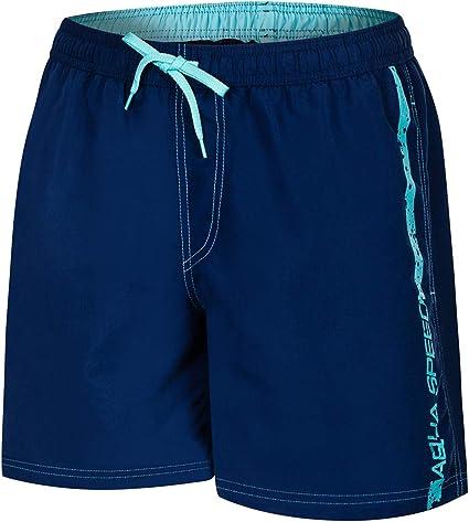 Aqua-Speed 5908217667052 Ace Swim - Bañador para Hombre, Talla S, Color Azul Marino y Azul