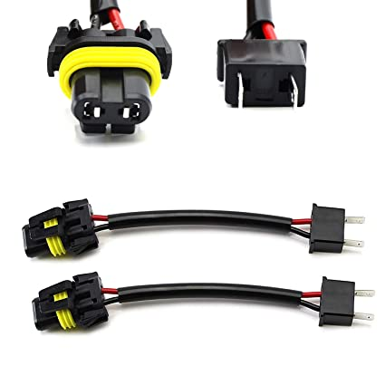 iJDMTOY (2) H7 To 9005/9006/HB4 Pigtail Wire Wiring Harness Adapters on