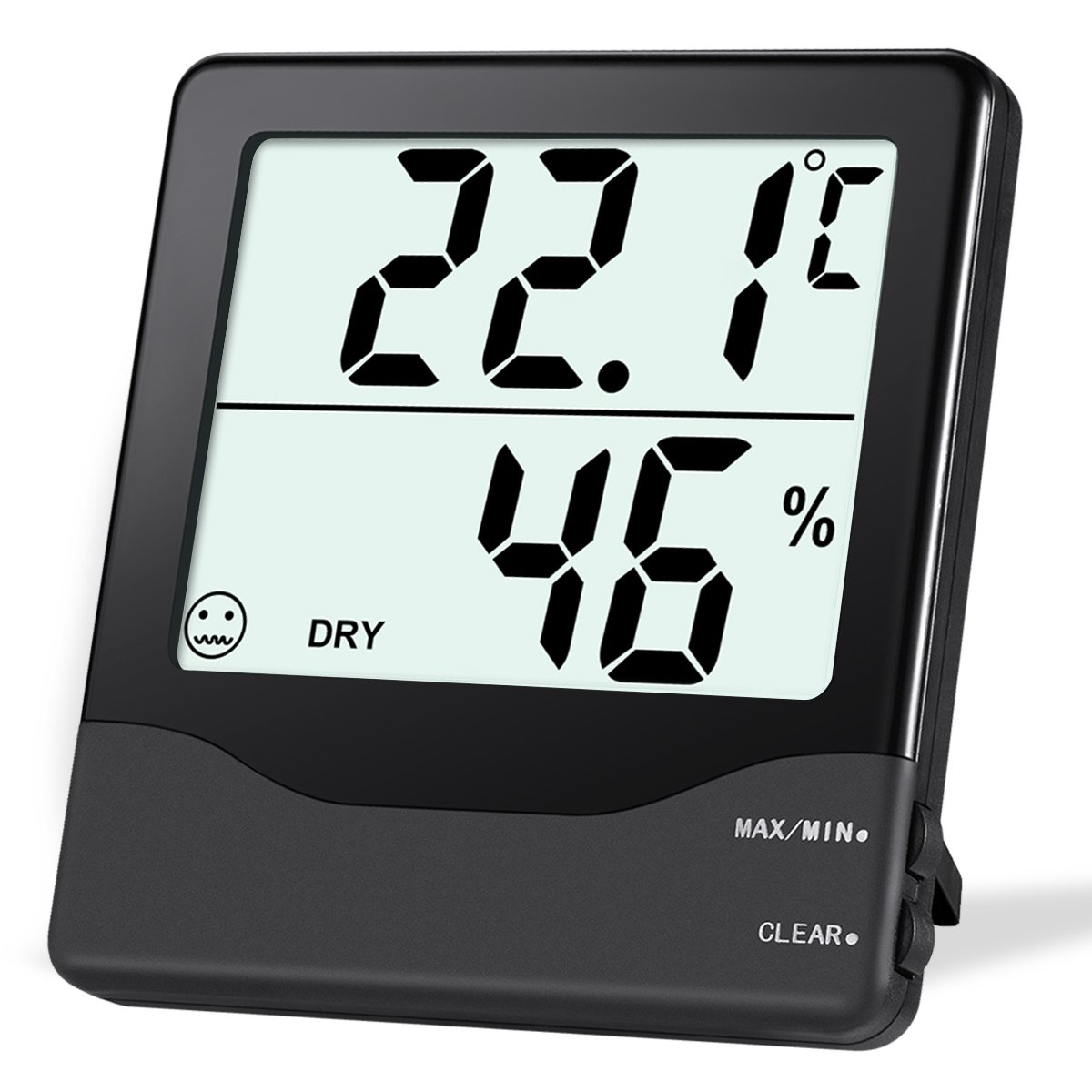 ORIA Digital Hygrometer Thermometer, Indoor Thermometer Humidity Monitor, Temperature Humidity Gauge Meter, with Comfort Indicators, MIN/MAX Records, ℃/℉ Switch, for Home, Office, Greenhouse, Room