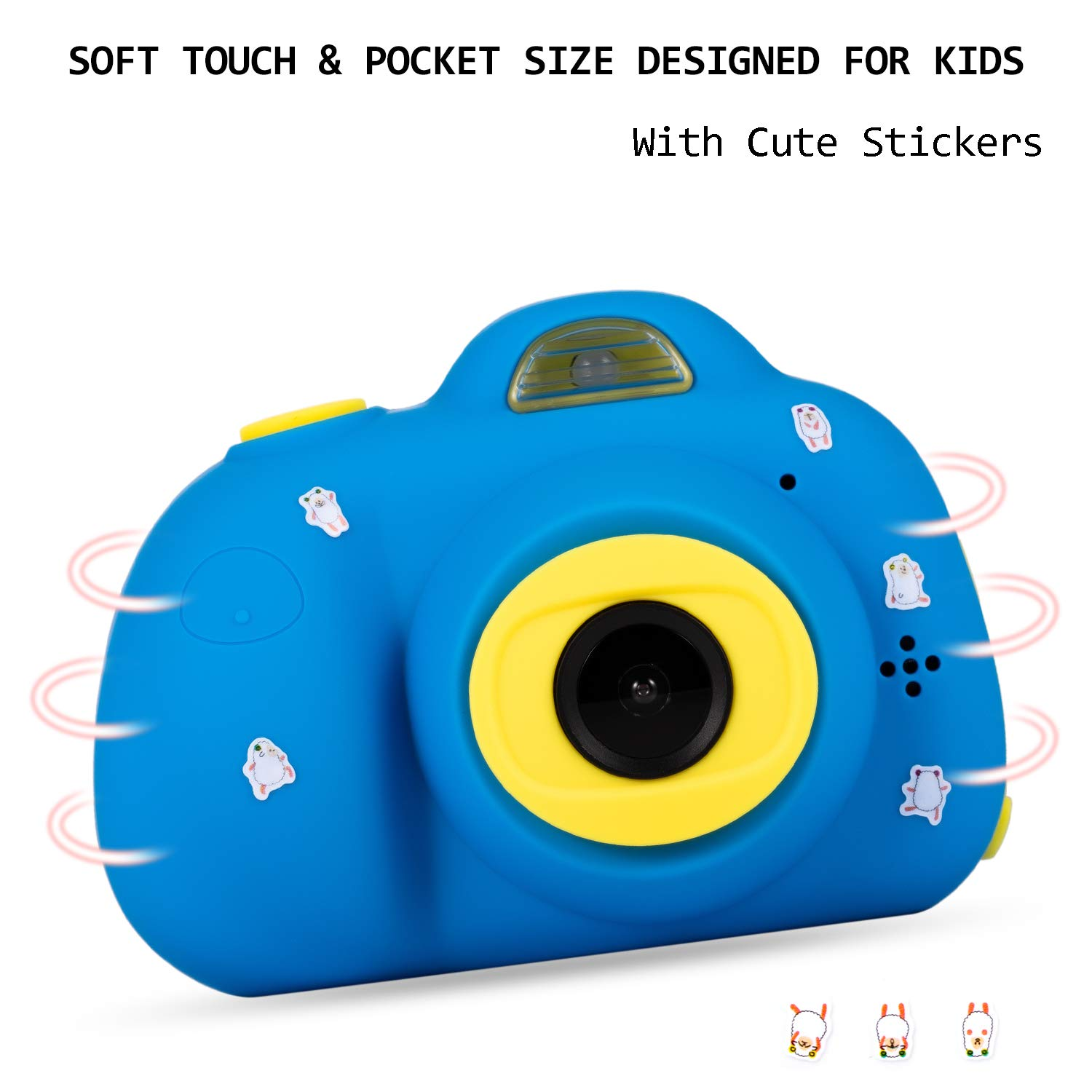 Deeteck Kids Video Camera for Girls Boys, 2 inch Mini Digital Camera,Shockproof Children Camcorders, Toys for 5-9 year old Boys Birthday Gifts with 16GB SD Card(Blue) by Deeteck (Image #6)