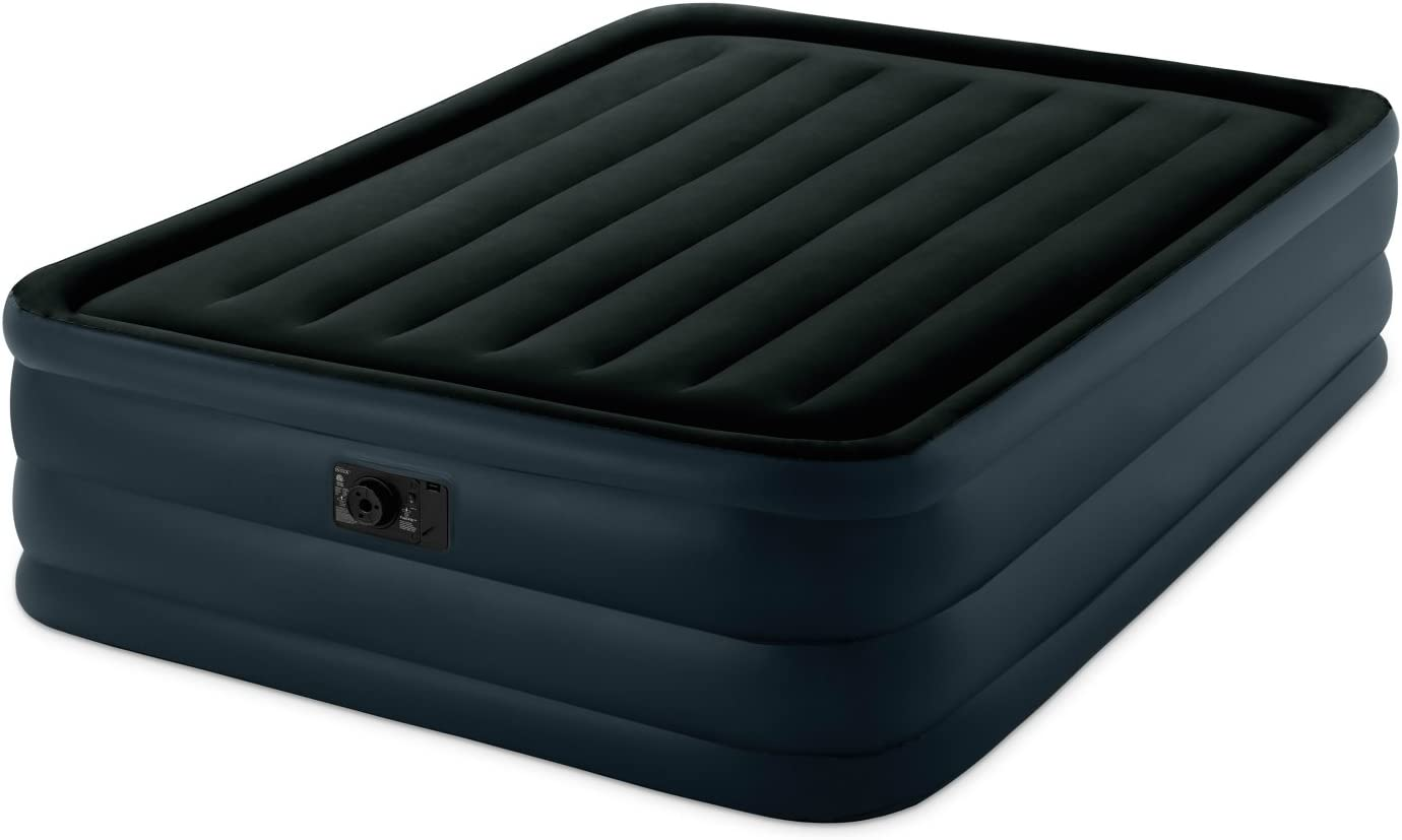 Intex Raised Downy Airbed With Built In Electric Pump Queen Bed Height 22 Amazon Ca Sports Outdoors