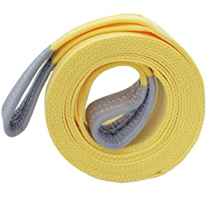 Trucks LOCEN Recovery 5 Meters Towing Rope with 2 Hooks Boat Perfect for Pulling a Car 5 Ton Towing Capacity or SUV or Removing Bushes or Tree Branches