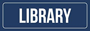 iCandy Combat Blue Background with White Font Library Office Business Retail Outdoor & Indoor Metal Wall Sign - 2 Pack, 3x9 Inch