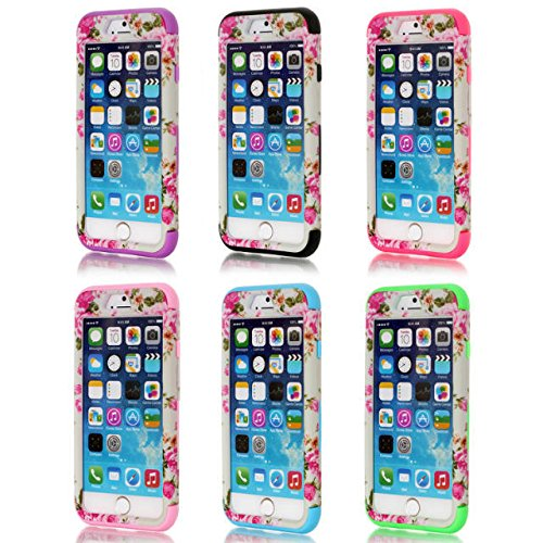 iPhone 6s Case, iPhone 6 cas, Hard Case Lantier hybride Heavy Duty robuste avec Shell silicone dur PC + l'intérieur du capot antichoc pour Apple iPhone 6 / 6S 4,7 pouces (Rose / Rose)