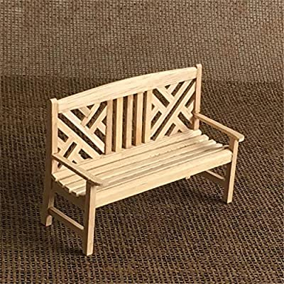 m·kvfa Mini 1:12 Dollhouse Miniature Wooden Beach Table Chair in Fairy Garden Accessory Miniature Furniture Chaise Longue Deck Chair for Craft Decor Children Kids Birthday Gifts: Toys & Games
