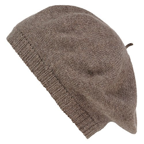Pure Cashmere Beret - Made in Scotland (Otter Brown)