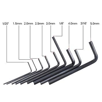 hiputi (TM) alta calidad 9pcs para guitarra o bajo cuello puente tornillos truss rod ajuste Bass guitarra llave Set Herramientas de reparación: Amazon.es: ...