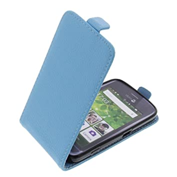 more photos e9e0d d8ea1 Cover for Doro Liberto 820 Mini flip-style mobile phone case light blue