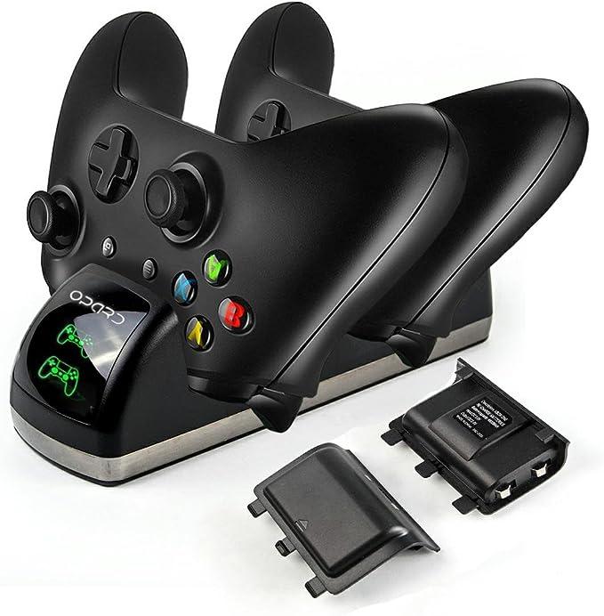Xbox One Controller carga estación de carga dual con 2 x 1200 mAh ...