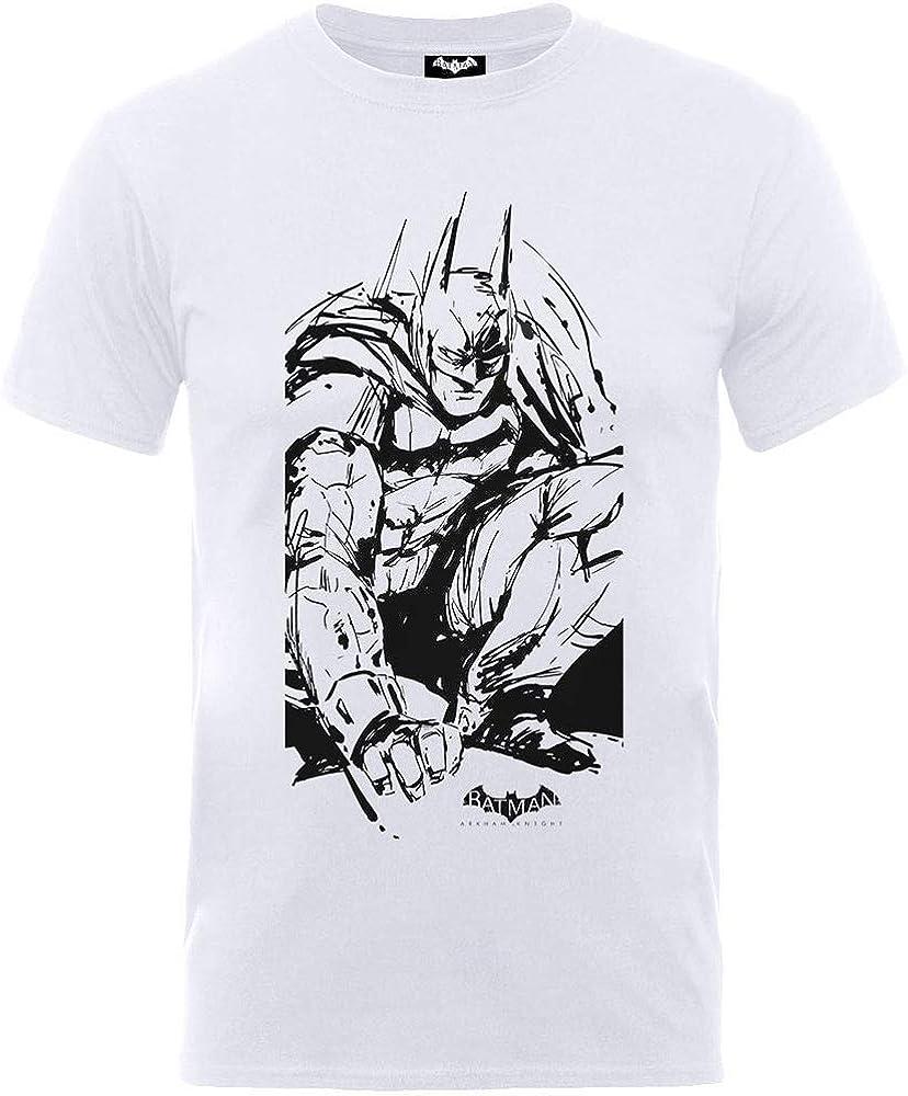 Rock Off Dc Comics Kids Batman Arkham Sketch T-Shirt Bambino