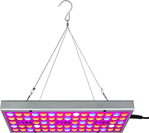 LED Grow Light for Indoor Plants Full Spectrum Panel Plant Light 25W LED Grow Lamp with IR LED Plant Lights for Indoor Plants, Seedlings, Hydroponics Greenhouse Veg and Flower 75 LEDs
