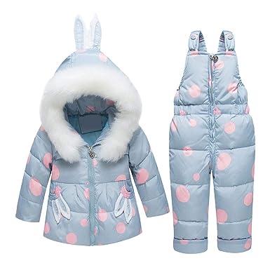SXSHUN Bebés Niñas Traje de Nieve con Lunares Chaqueta con ...