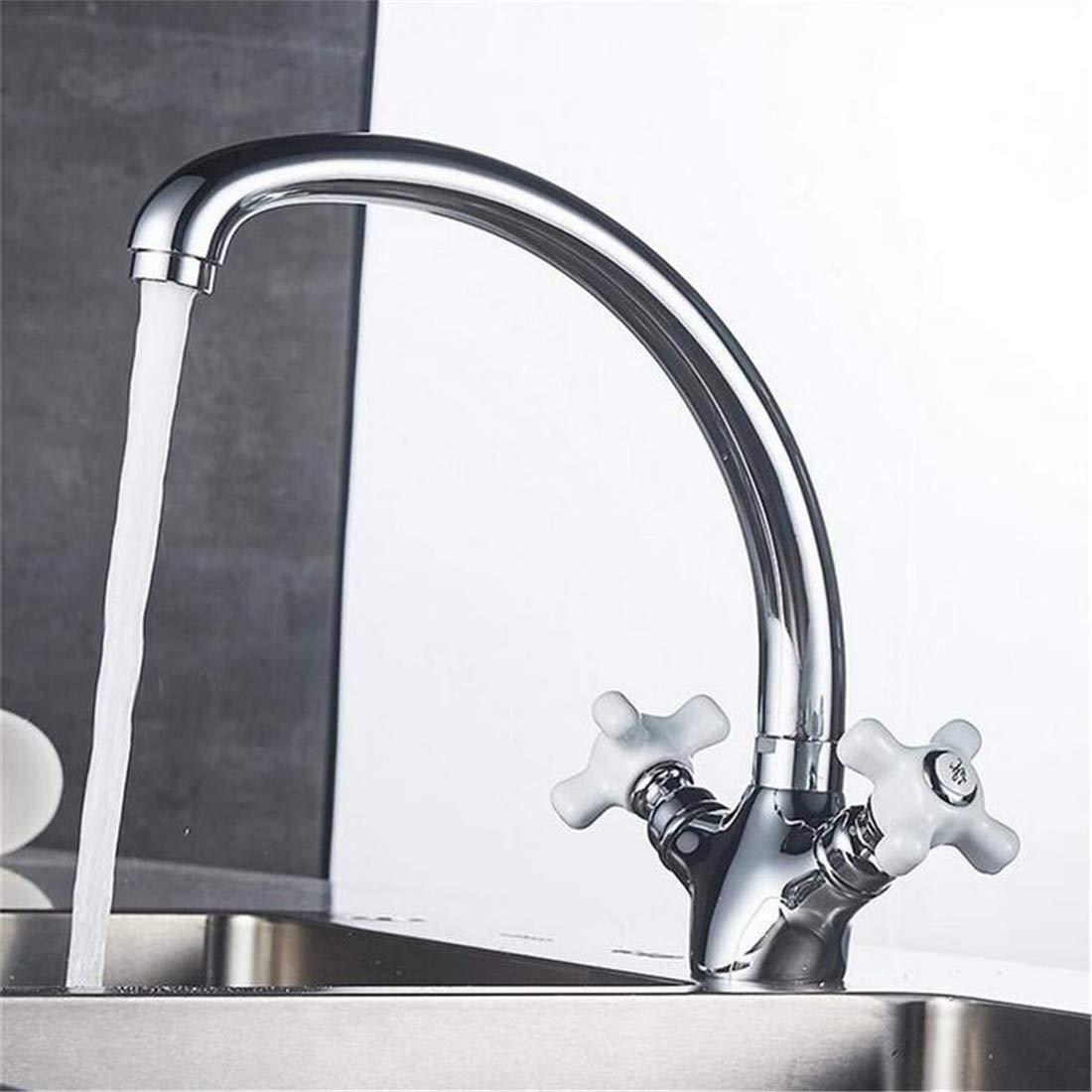Modern High Quality Vintage Faucetmixer Double Handle Torneira Cozinha 360 Degree Rotation