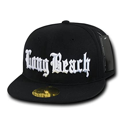 498368697df7a Amazon.com  Nothing Nowhere Old English City Long Beach Snapbacks ...