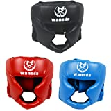 AIWAYING Boxing Headgear, Essential Professional Synthetic Leather MMA Protector Headgear, UFC Fighting,Judo,Kickboxing Head Guard Sparring Helmet
