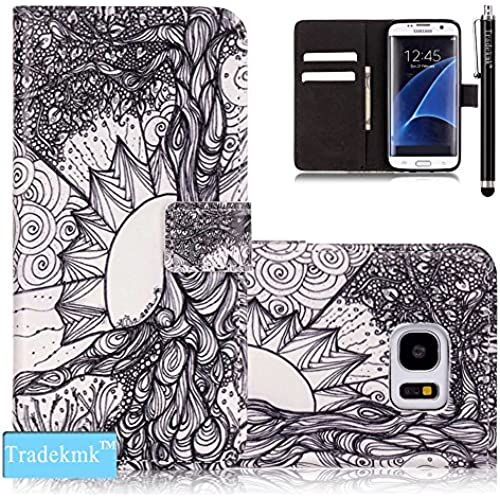 Galaxy S7 Edge Case,S7 Edge Case, Tradekmk(TM); PU Leather Card Holders And Stand Wallet Phone Case (Cute Pattern F) For Samsung Galaxy S7 Edge Sales