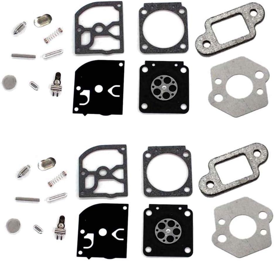 AISEN 2X Carburettor Membrane Kit Gasket for ZAMA Stihl 017 018 021 023 025 MS170 MS180 MS191T MS192T MS200T MS201T MS210 MS230 MS250 C