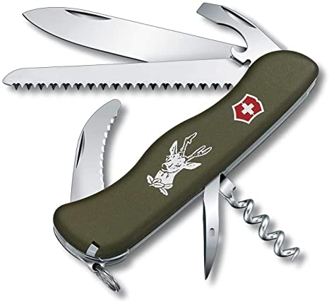 Victorinox 0.8873.4 - Navaja Suiza (111 mm), Color Verde