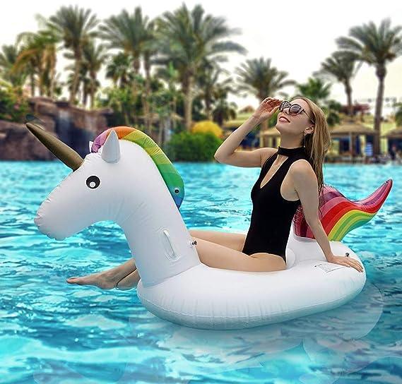 Flotador de Unicornio Hinchable Colchonetas Piscina Inflable ...
