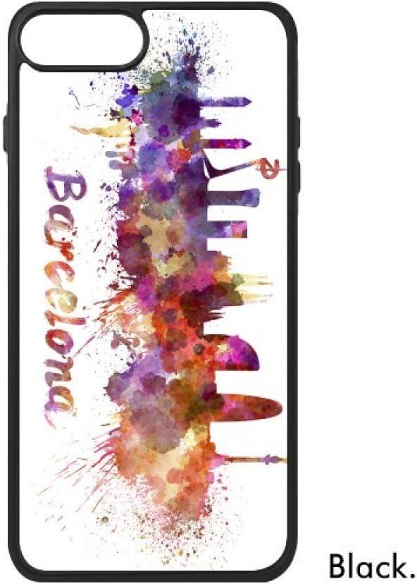 DIYthinker Barcelona, España País Ciudad Acuarela Ilustración para iPhone 7 Casos phonecase Cover de Apple Caso 7 Caso de iPhone Regalo: Amazon.es: Electrónica