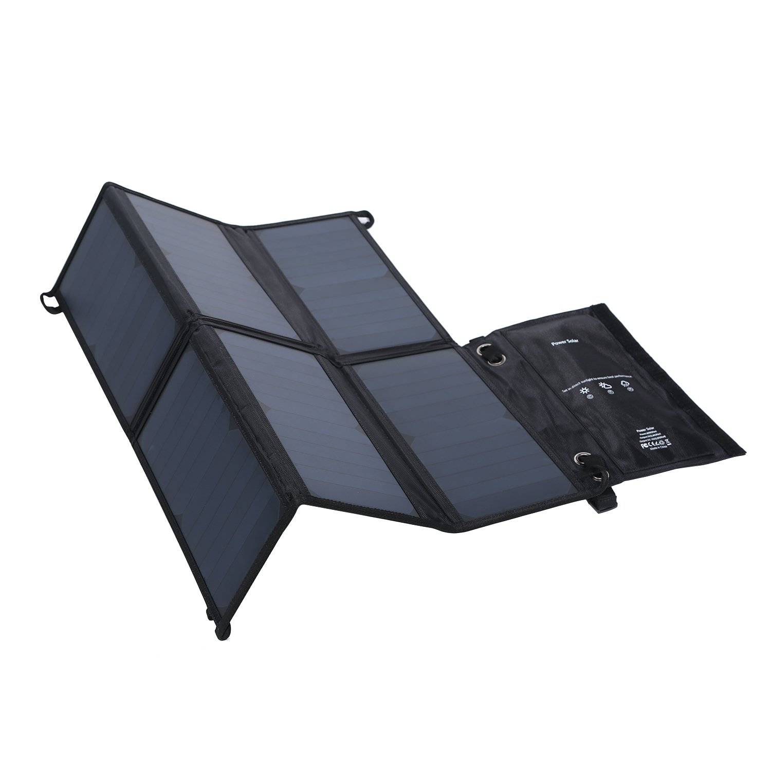 LESHP Highest Efficient Solar Charger 40W Foldable Sunpower Solar Panel Charger Dual Output (5V USB + 12V DC) For StorageBattery, iPhone, iPad, Android Smart Phone by LESHP (Image #1)
